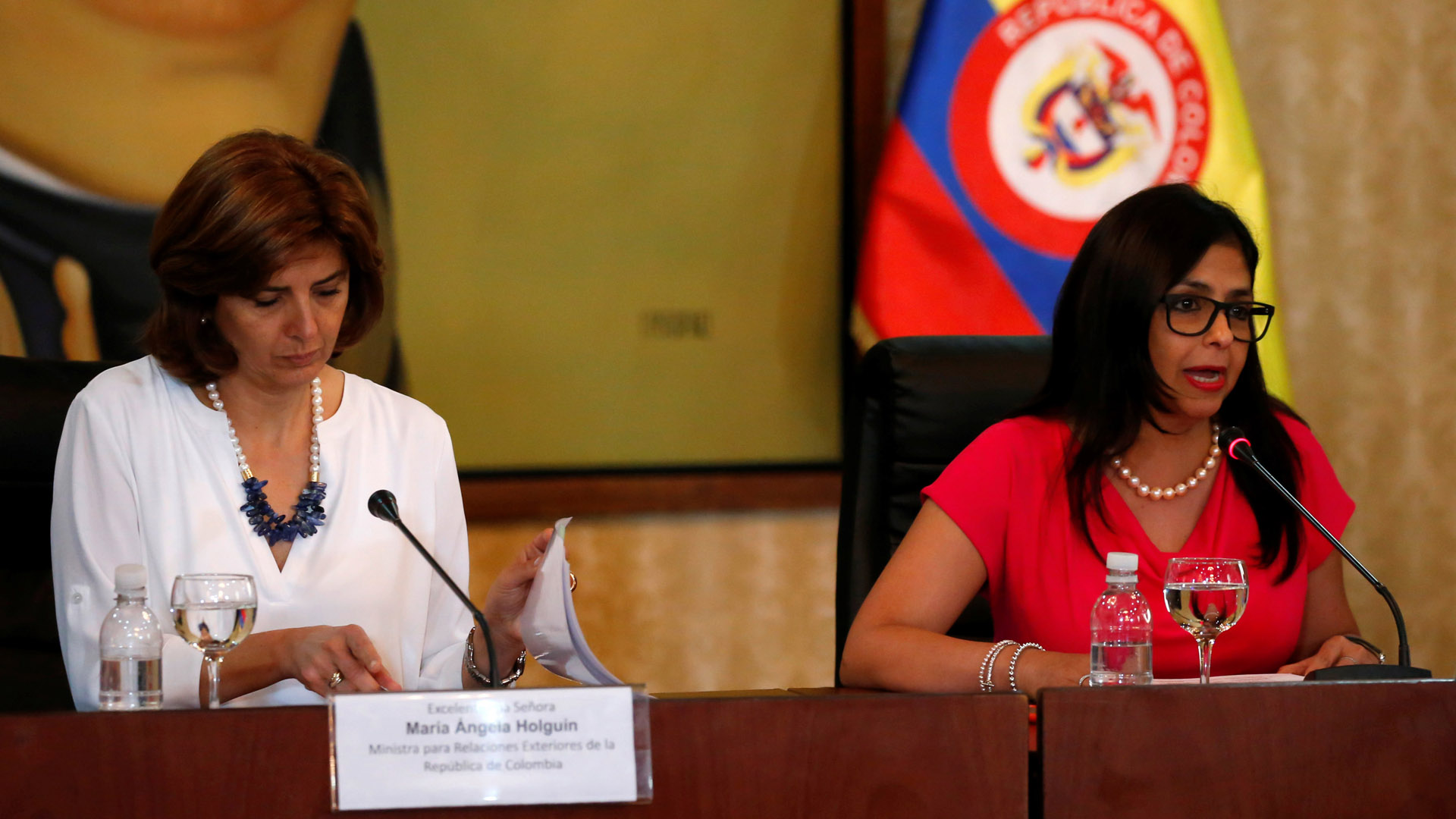 La canciller venezolana explicó que esta medida sólo será para las personas que residen cerca de la frontera común
