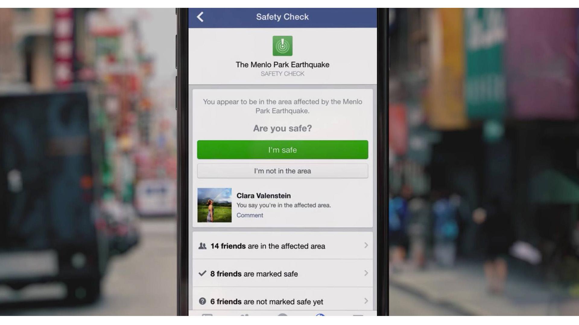 Luego del terremoto de Italia y sus numerosas réplicas, Zuckerberg decidió mantener disponible el Safety Check
