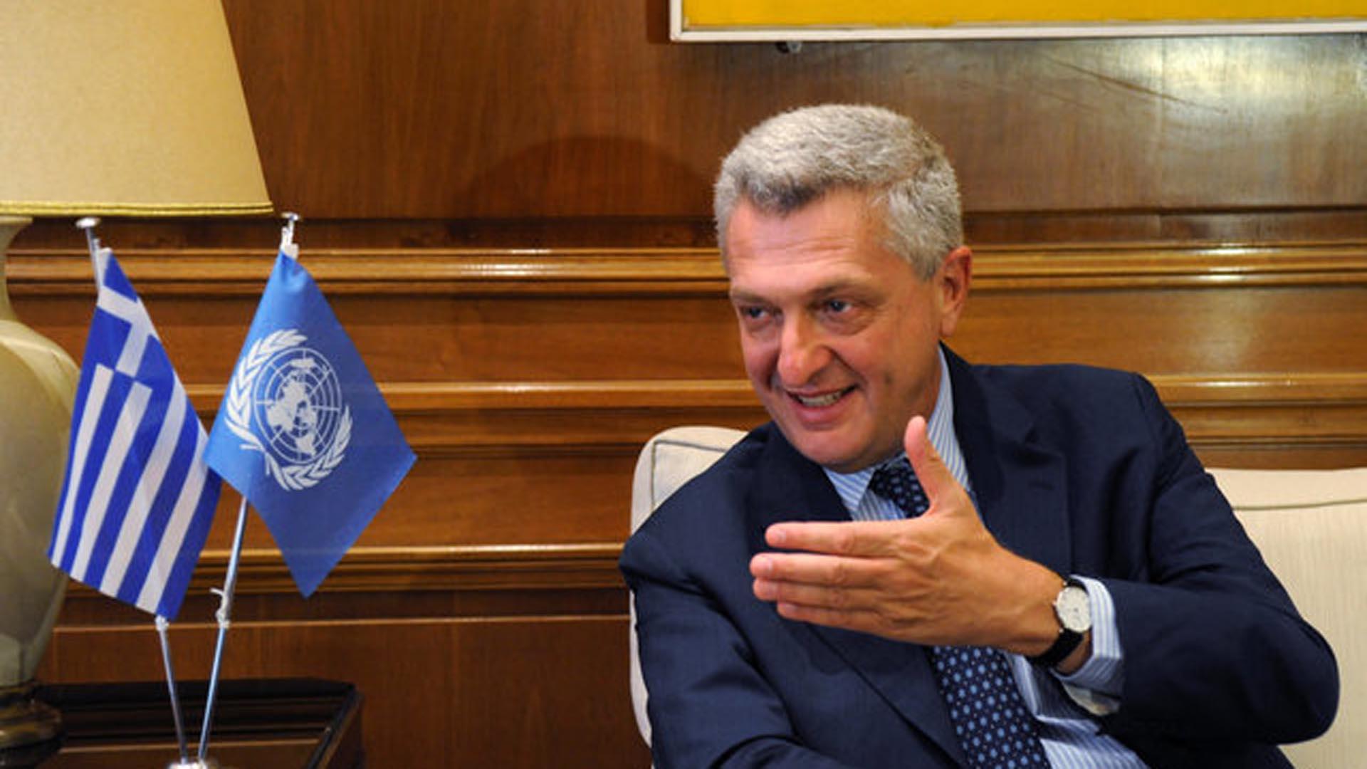Filoppo Grandi El Alto Comisionado de las Naciones Unidas para los Refugiados