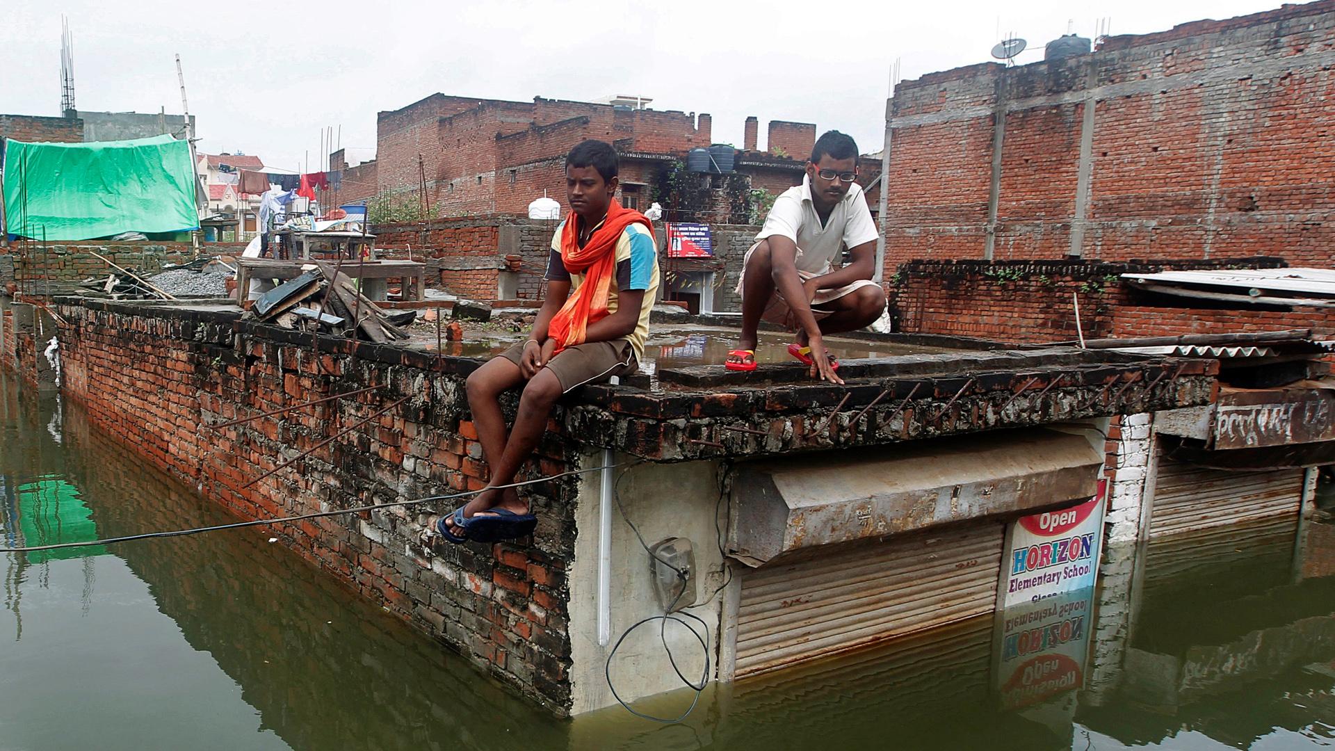 Las inundaciones se presentaron tras el monzón que se registro en algunas ciudades, luego de una sequía de casi un año