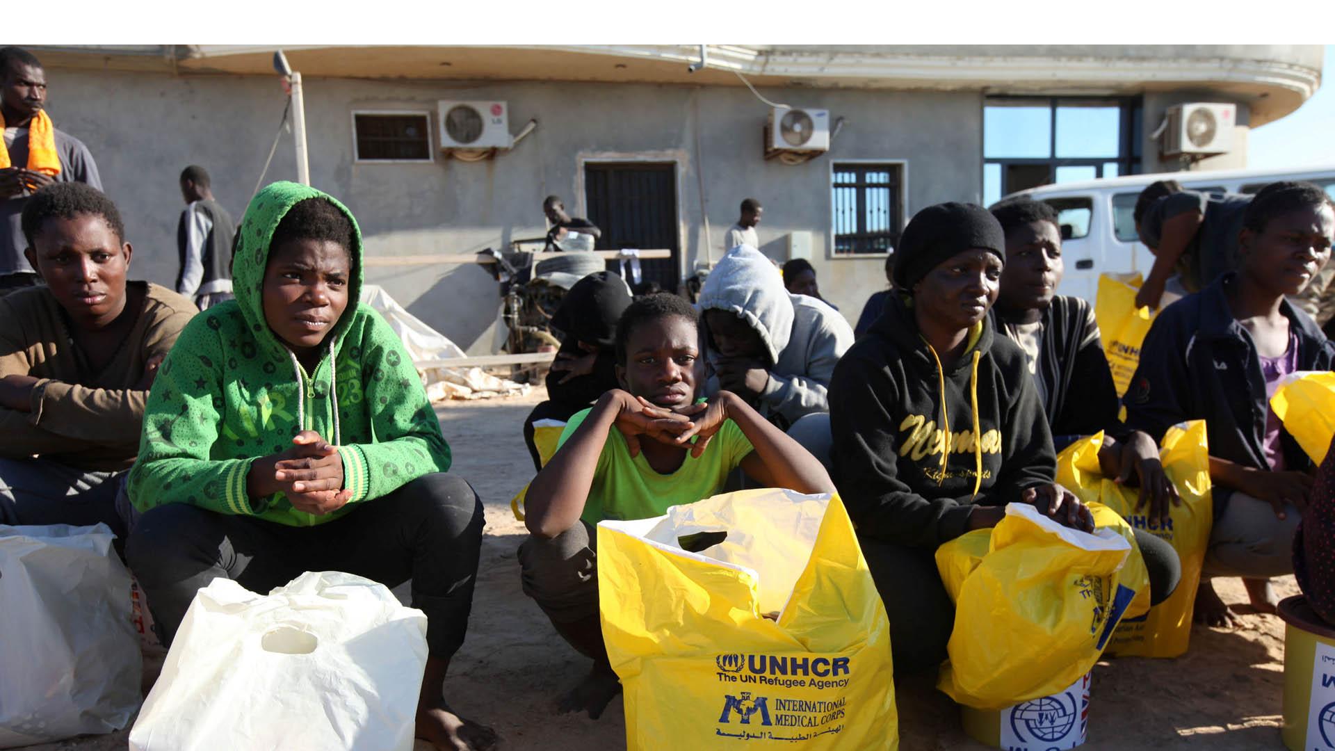 Los migrantes recatados del mar y procedentes de Libia reportaron los abusos que sufrieron antes de llegar a tierra firme