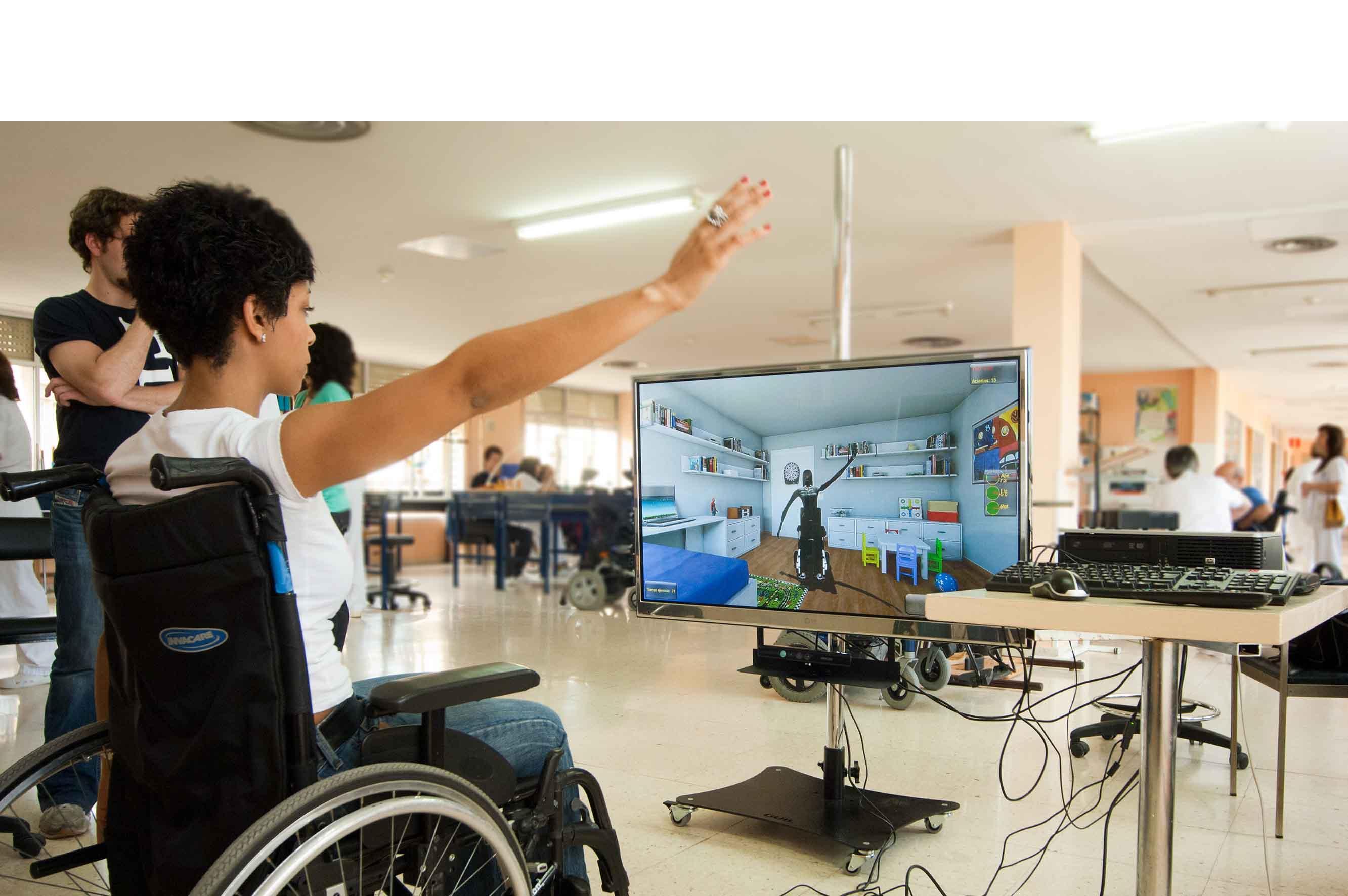 El principal objetivo es la reeducación cerebral donde el paciente se imagina caminando y así activar nervios de la espina dorsal