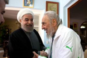 El ex presidente cubano tuvo un encuentro con el mandatario Hassan Rohani en una visita fraternal