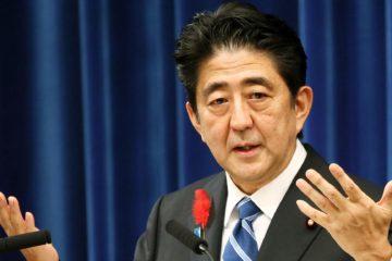 El primer ministro japonés, Shinzo Abe, busca que se firme una declaración para desnuclearizar Pyongyang