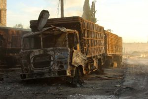 Catorce personas murieron debido a bombardeos producidos mientras se atendían a quienes padecieron un primer suceso
