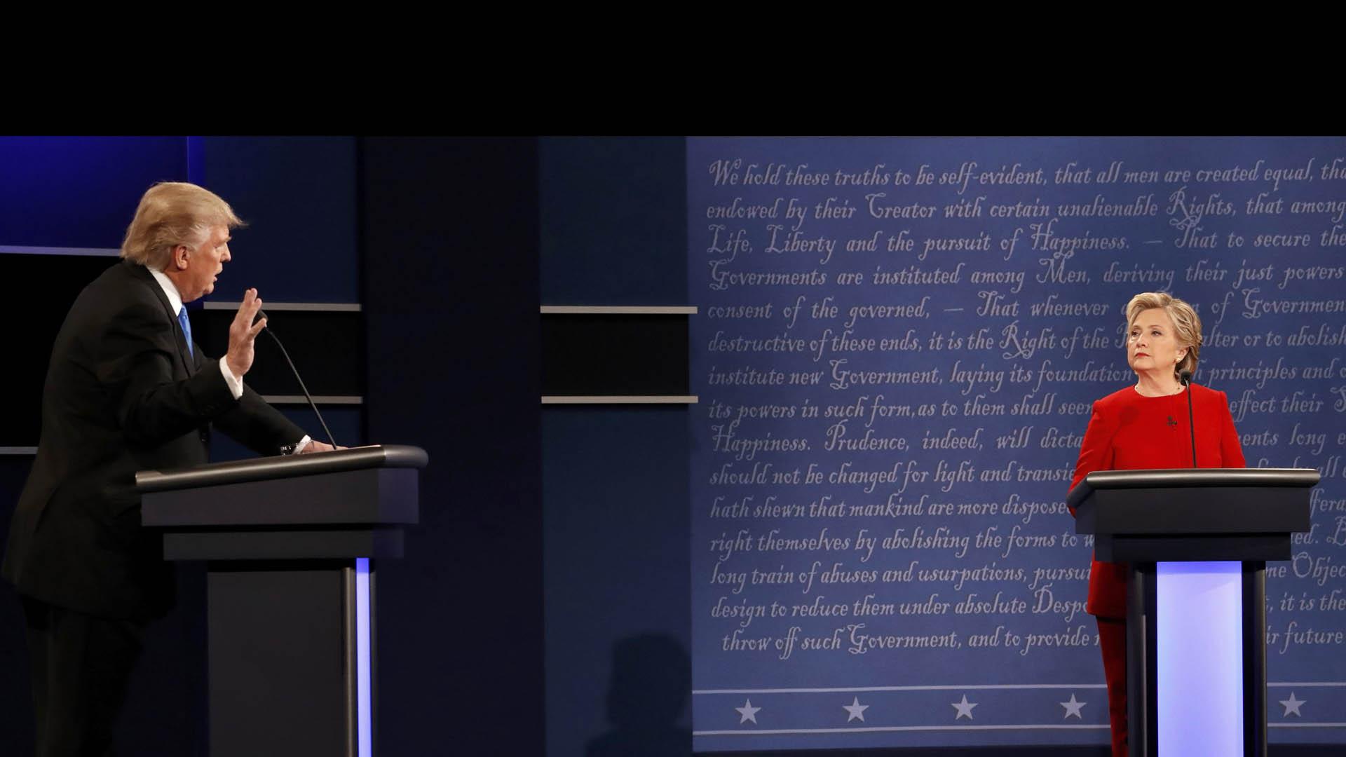 Los candidatos presidenciales se expresaron durante una hora y media sobre la economía, el racismo y el terrorismo