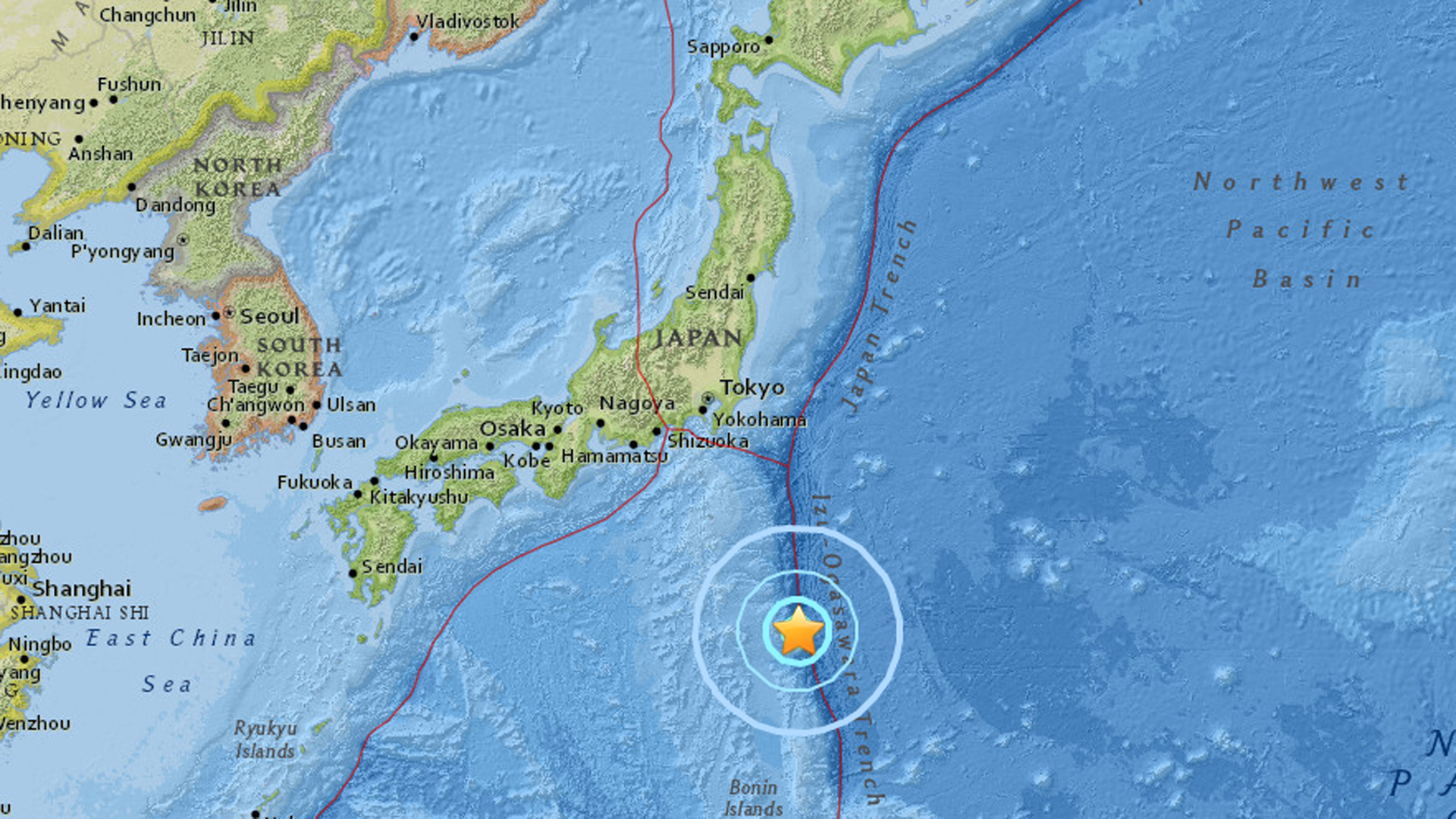 Sismo de 6.0 se registró en las Costas de Japón
