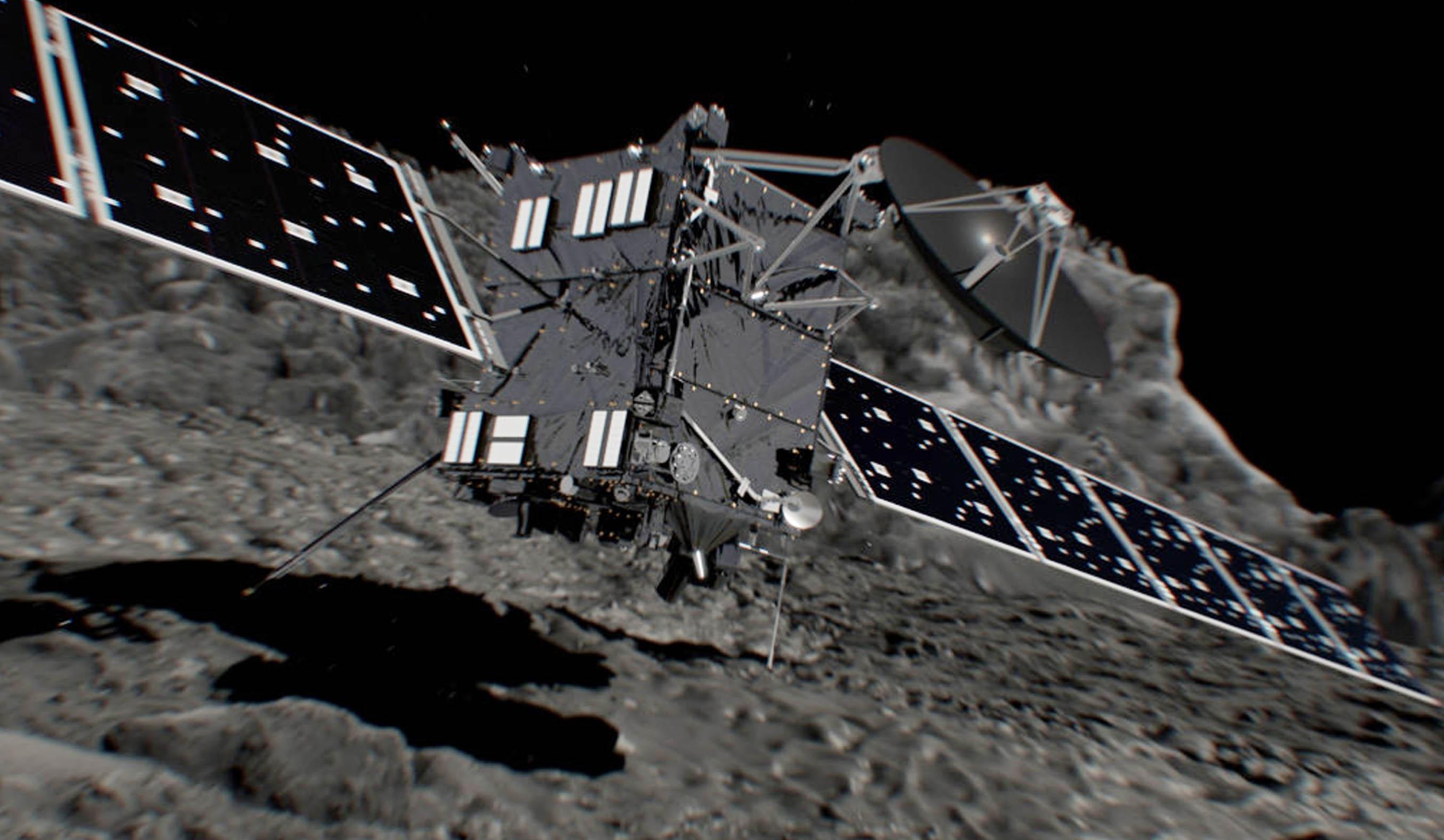 La misión espacial de la Agencia Espacial Europea finalizó este viernes con mucha emoción por parte de sus coordinadores