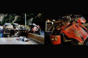 El conductor de la gandola volcada se habría quedado dormido en la autopista