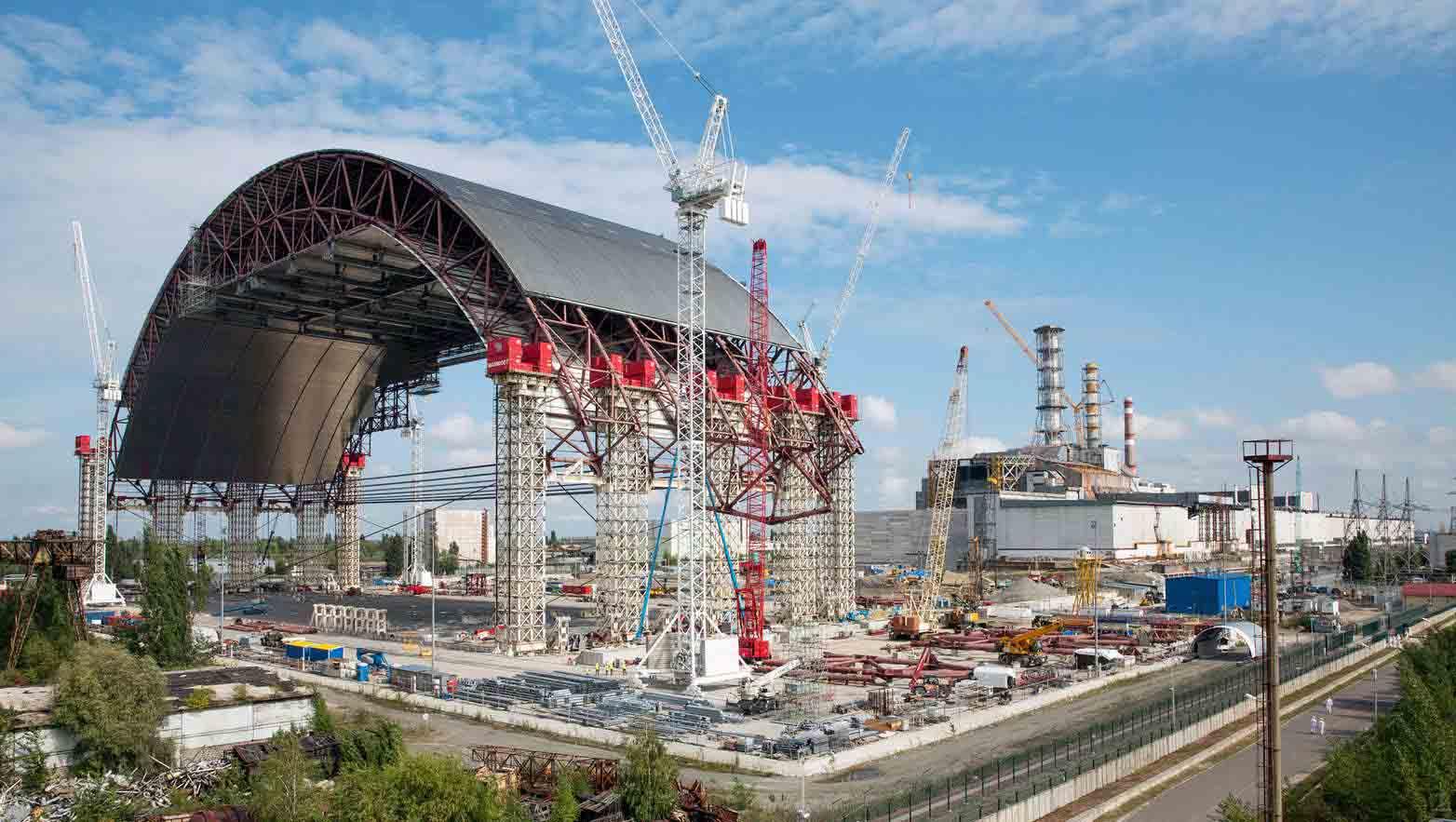 El domo destinado a evitar radiaciones nucleares será inaugurado a finales del próximo mes de noviembre