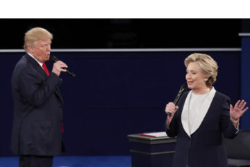 Donald Trump y Hillary Clinton se volvieron a encontrar en el segundo debate que giro en torno a lo personal, a sólo cuatro semanas de las elecciones