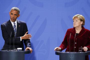 En un encuentro, Obama, Merkel y otros lideres mundiales acordaron mantener la decisión hasta que se complete el acuerdo de Minsk