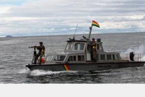 Las prácticas se llevaron a cabo en el lago navegable de Titicaca el cual es compartido por ambos países