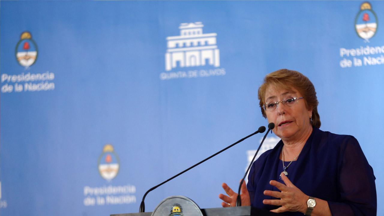 La presidenta de Chile indicó que la nación mantiene su postura de crear un Cercano Oriente de dos Estados Separados