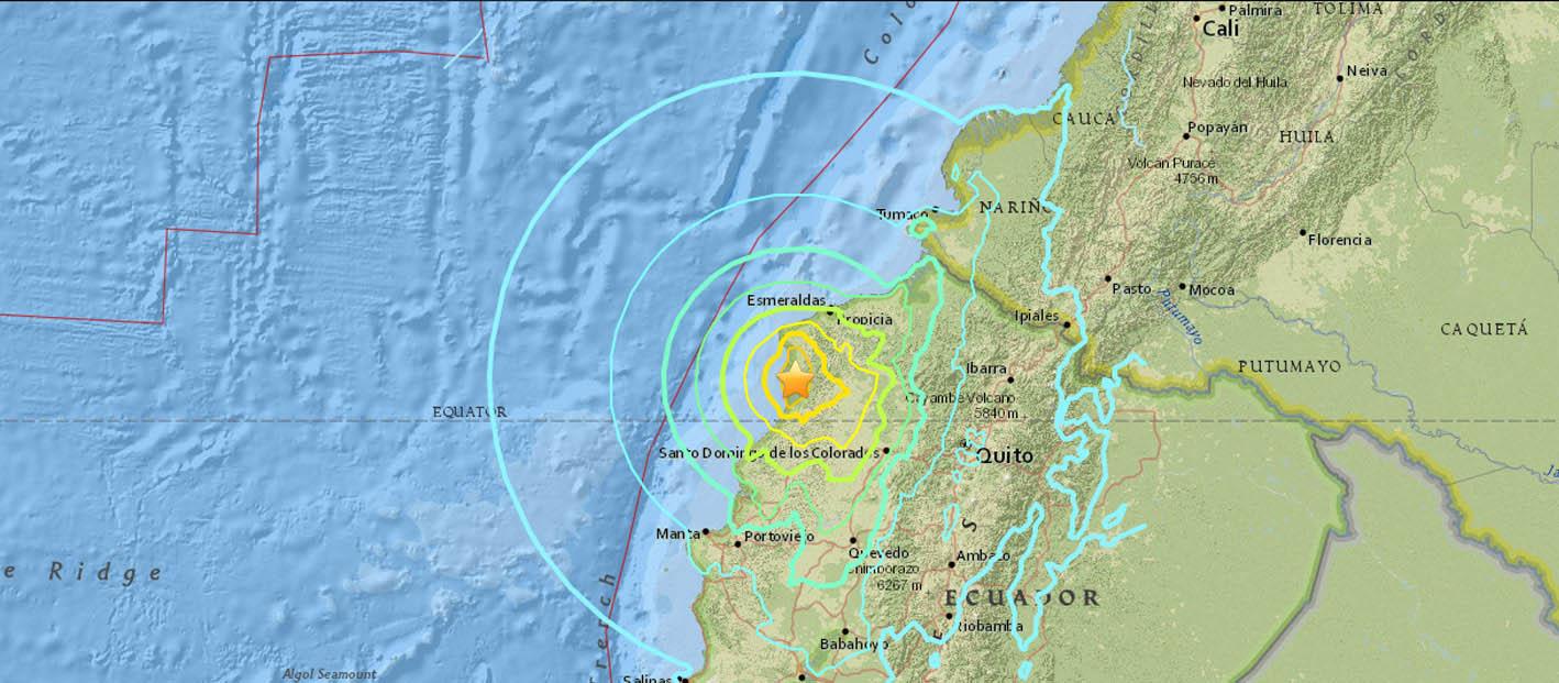 Un movimiento telúrico de magnitud 5.0 y otro de 5.2 se registraron la mañana de este lunes en la provincia de Esmeraldas