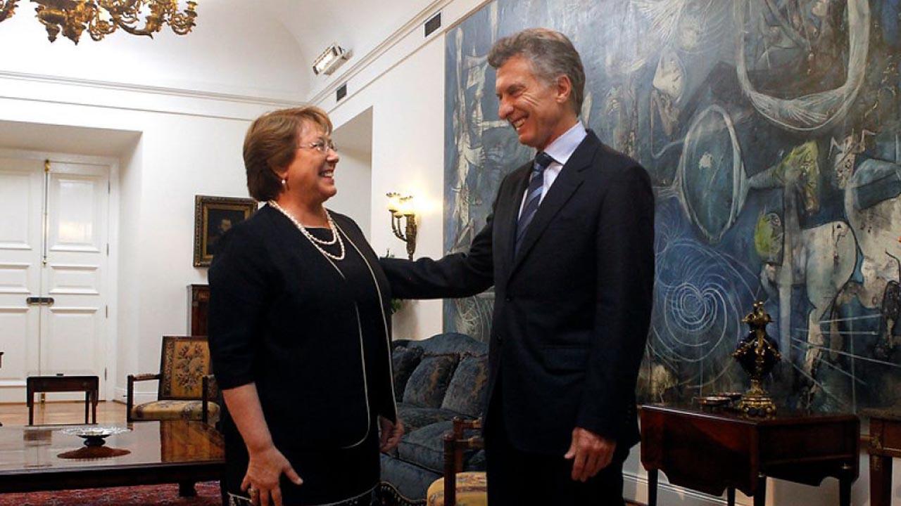 Mauricio Macri y Michelle Bachelete se reúnen