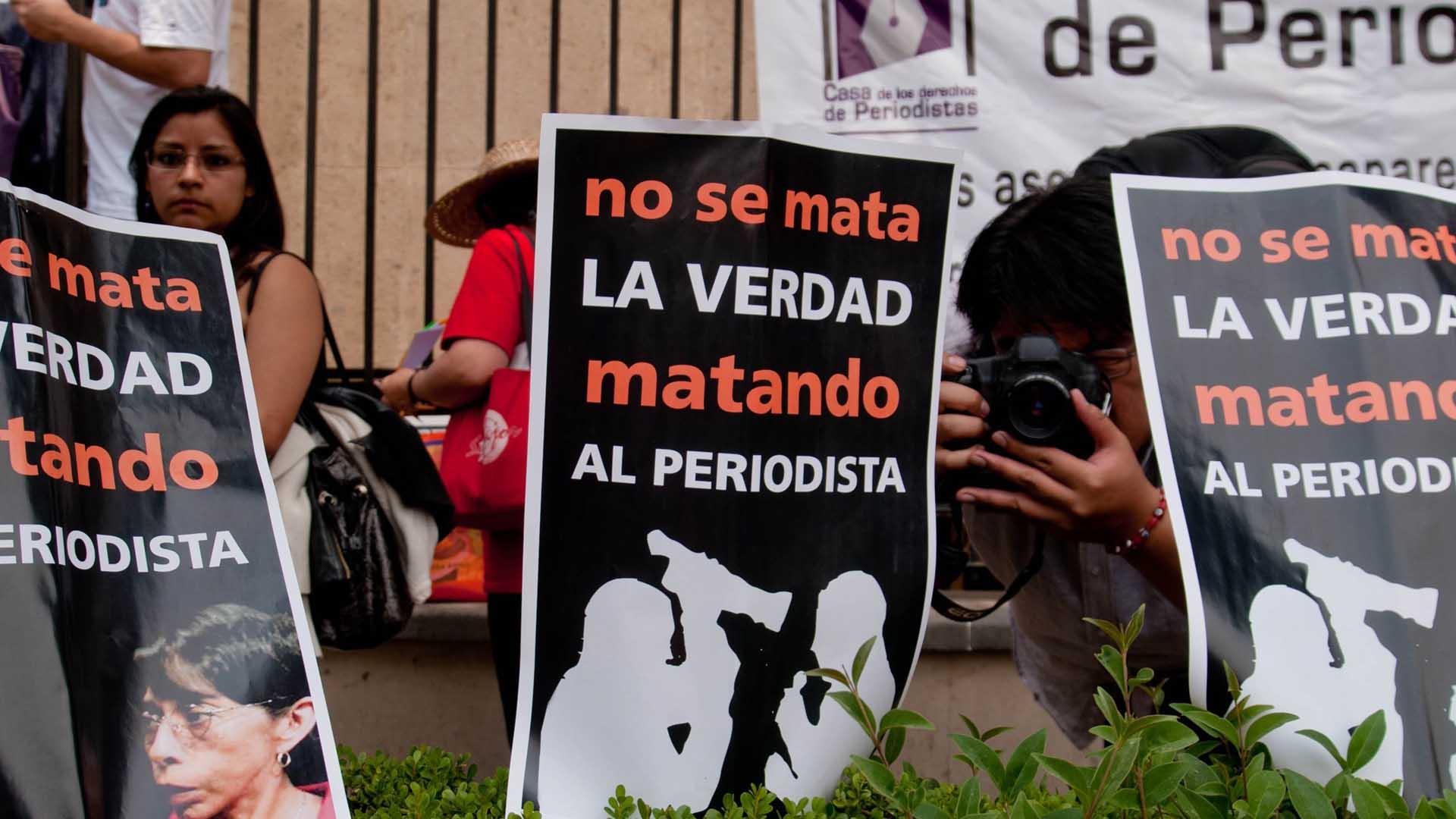 Hasta el 10 de diciembre Reporteros sin Fronteras contabilizó la muerte de 74 periodistas en todo el mundo