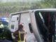 Volcamiento de bus deja 21 niños heridos