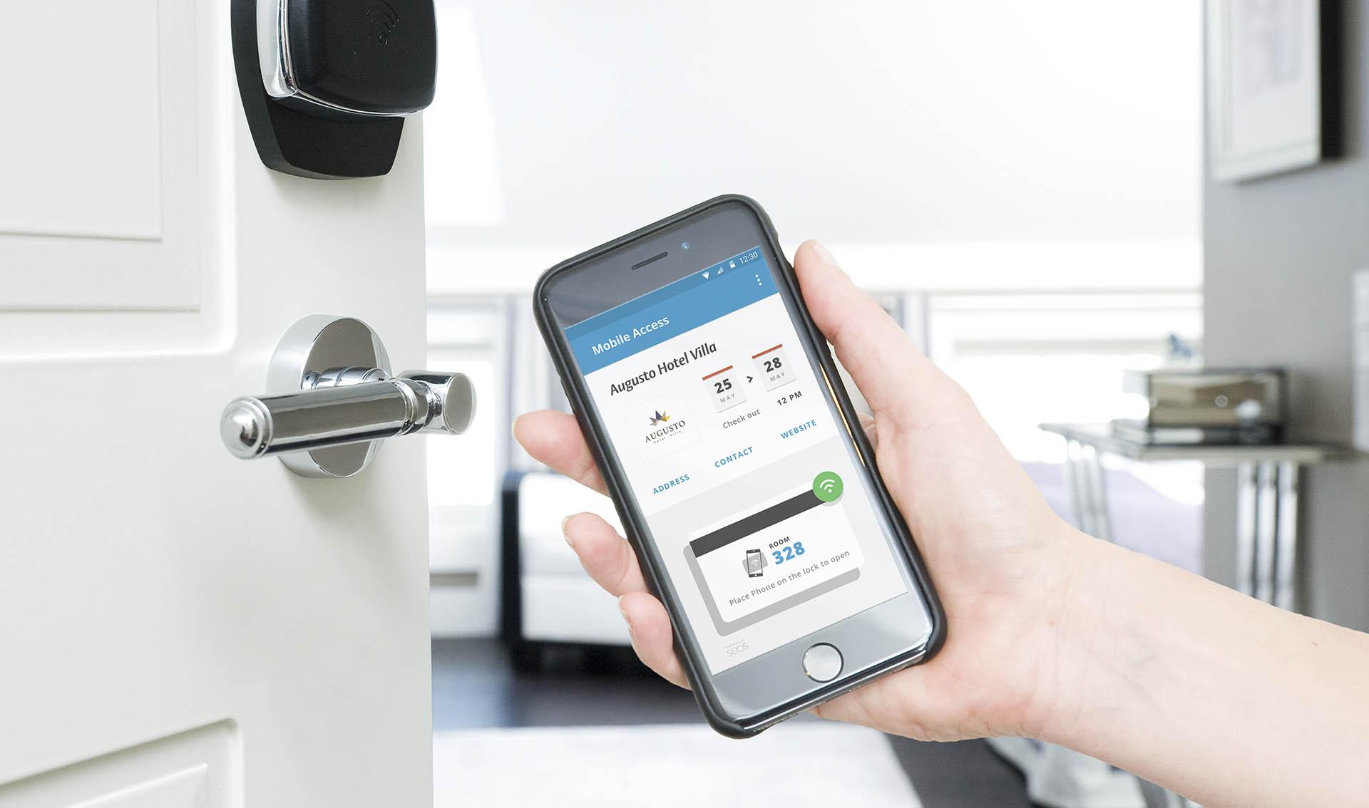ASSA ABLOY Hospitality Mobile además de convertir tu celular en una llave te permite hacer las reservaciones de hotel. Doble Lllave
