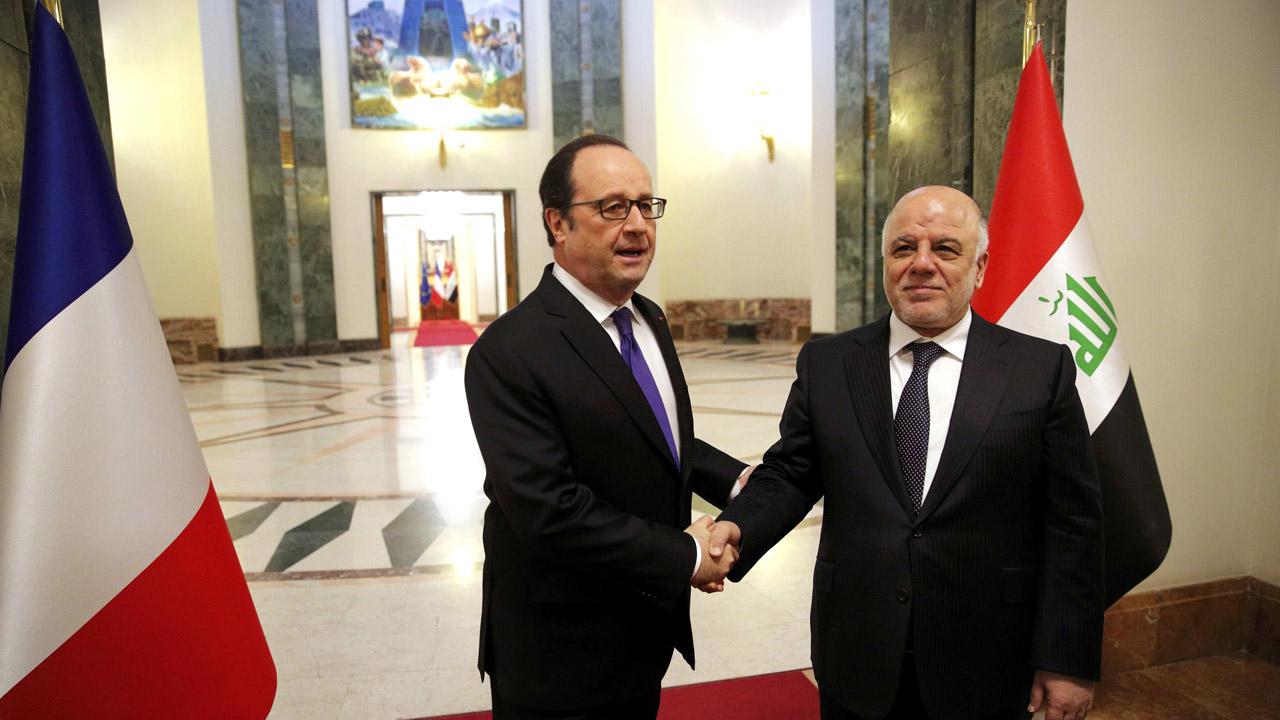 François Hollande se reunirá con los principales mandatarios de Irak con el objetivo de continuar con el apoyo en la lucha contra el Estado Islámico