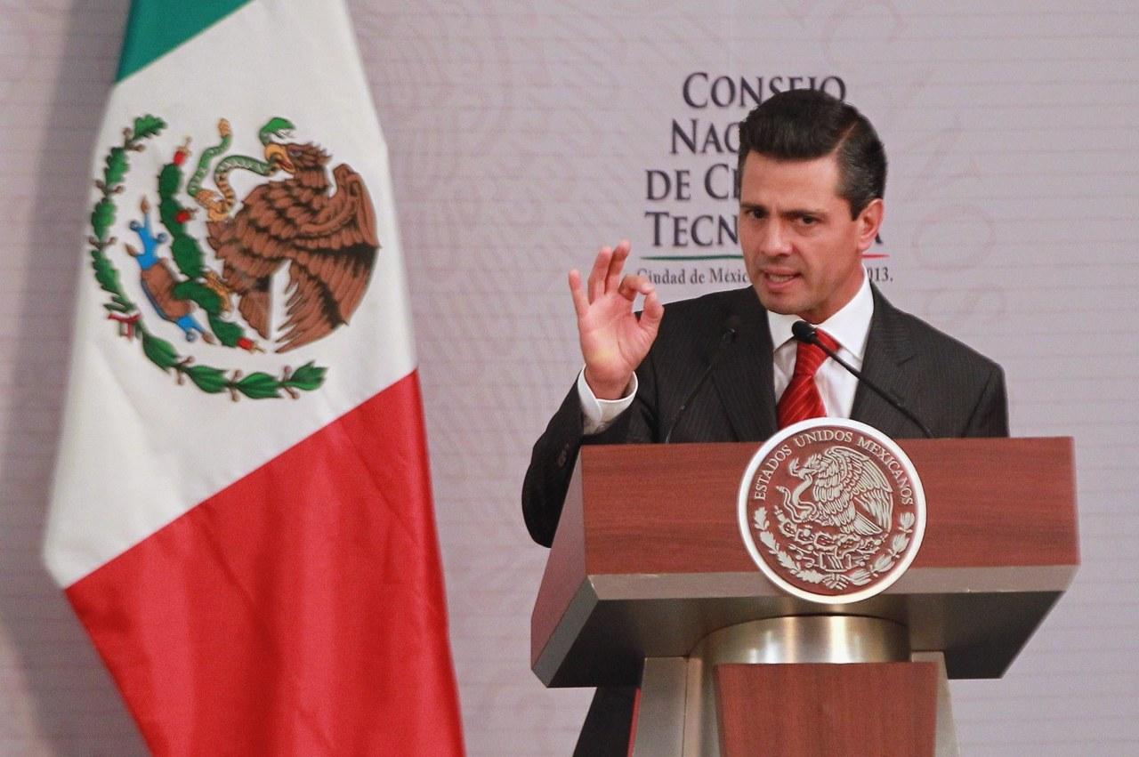 El presidente mexicano, Enrique Peña Nieto realizó el anuncio