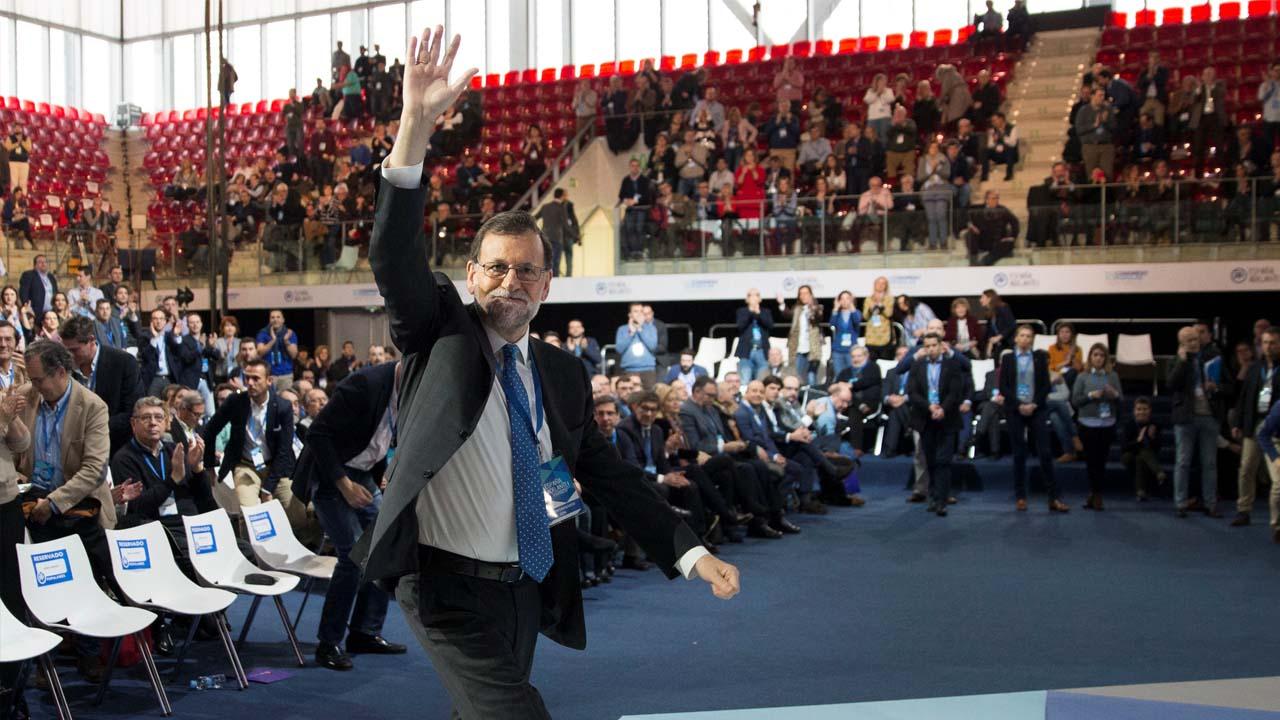 El actual jefe del Gobierno español fue reelegido como presidente del PP