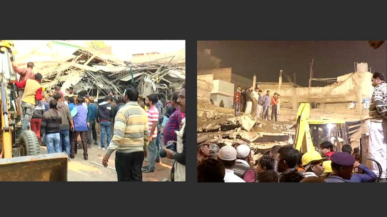La estructura en construcción se vino abajo y al menos 30 personas quedaron atrapadas