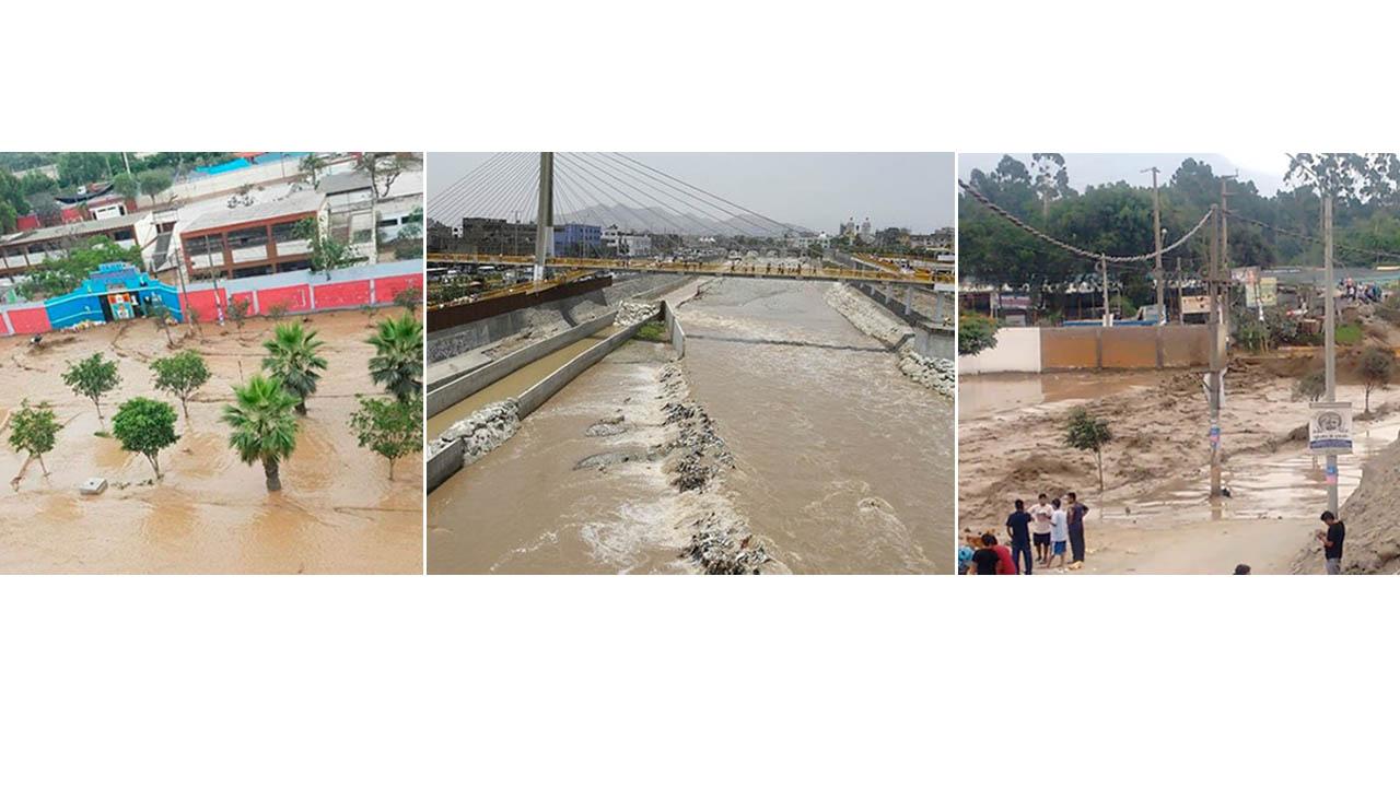 Las fuertes lluvias de esta temporada causaron el derrame del río Huaycoloro causando fuertes daños en la localidad sin víctimas hasta el momento