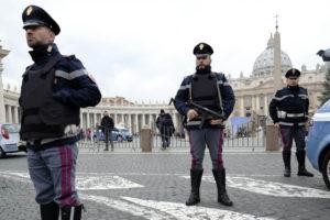 El marco de la reunión de los jefes de Estado de la UE, las autoridades italianas reforzaron las medidas de seguridad
