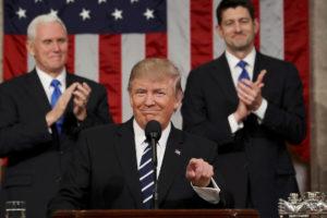 El presidente de los Estados Unidos se refirió a varios temas en concreto e instando a que los demócratas y republicanos trabajen en conjunto