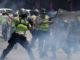 Manifestantes y fuerzas policiales mantuvieron momentos de tensión durante las concentraciones