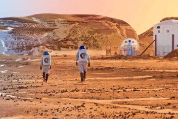 La compañía Lockheed Martin presentó un diseño llamado Mars Base Camp con el que pretende enviar tripulantes al planeta en 2028