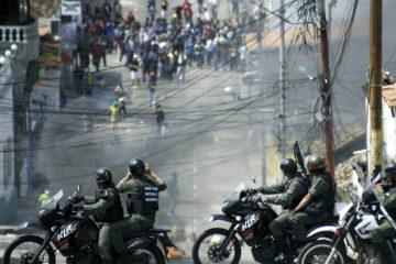 Joiner Mora de 17 años fue herido en la localidad de Pedraza durante las manifestaciones realizadas ayer en la zona