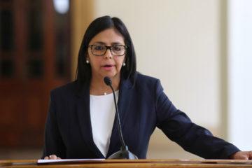 La canciller de la República se pronunció en rechazo a las sanciones del Departamento del Tesoro de E.E.U.U contra los magistrados del TSJ
