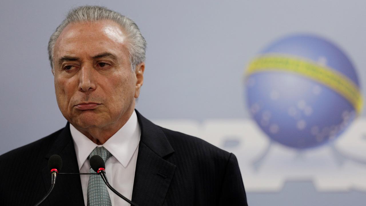 El primer mandatario brasileño es acusado por pago de ilícitos tras la divulgación de un audio que lo compromete