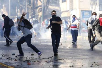 El ministro Nestor Reverol informo sobre la aprehension de 24 personas que presuntamente ejecutaron la acciones contra la Magistratura