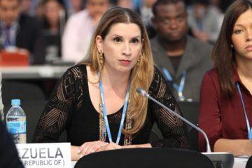 Claudia Salerno, diplomática ante la UE, expresó que la posibilidad planteada por el presidente de la Eurocamara no resolvera la situacion en el pais