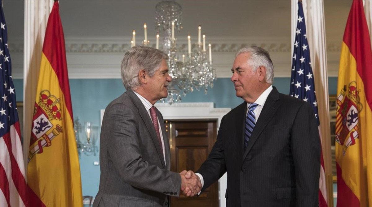 Los minsitros Dastis y Tillerson tambien manifestaron su deseo de que se realicen elecciones y la liberacion de presos politicos
