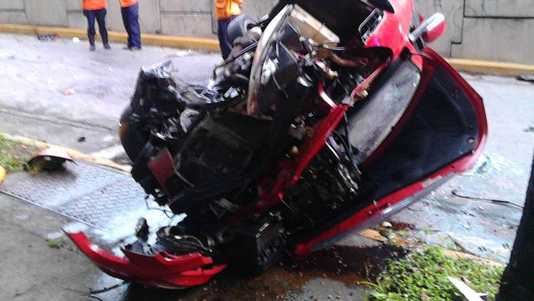 El deceso se produjo cuando su Chery Orinoco de color rojo se volcóen la avenida Francisco de Miranda, a la altura de Parque del Este en Caracas