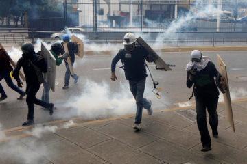 La convocatoria realizada por la MUD comprendía la salida desde quince puntos en el este y oeste de Caracas