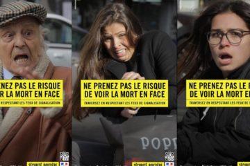 El Departamento de Seguridad vial de París creó una campaña de prevención que busca evitar que los peatones sean arrollados