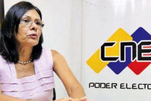 """La rectora del CNE subrayó que son la """"única institución"""" encargada de llevar adelante cualquier tipo de consulta al país"""