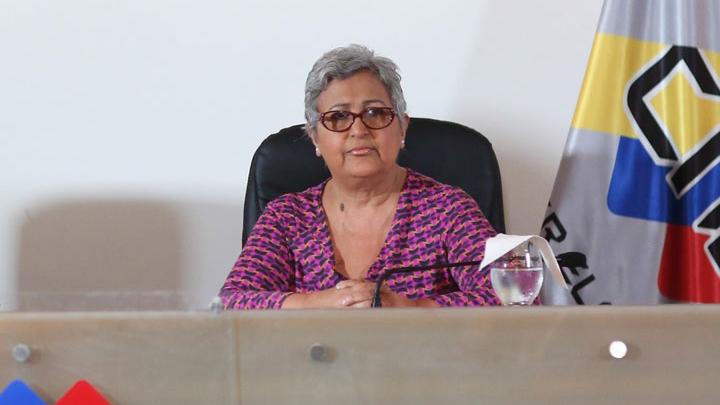 La presidenta del CNE animó a los electores a visitar el portal web de la institución para informarse sobre el proceso de consulta del domingo