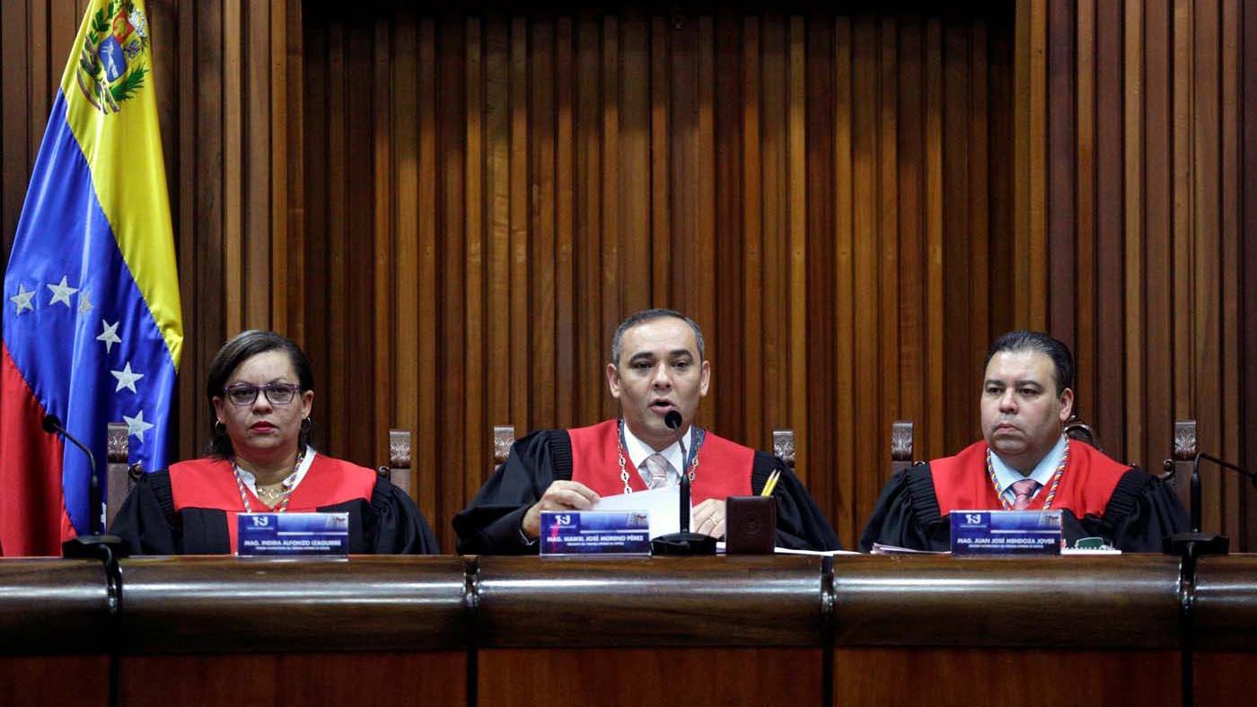 """Durante el acto, Maikel Moreno, presidente del organismo indicó que Ortega Díaz ha """"violado la Carta Magna"""""""