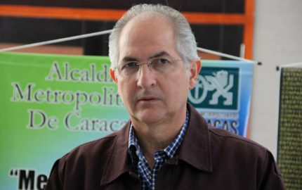 El alcalde metropolitano de Caracas, también pidió al expresidente español José Luis Rodríguez Zapatero que no lo visite