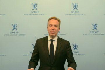 El titular del ministerio de Asuntos Exteriores, Borge Brende, emitió sus críticas en medio de una huelga general en el país