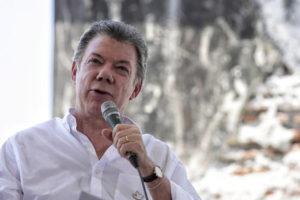 El presidente colombiano se unió a líderes de Argentina, Panamá, Canadá, Alemania y España solicitando una solución negociada