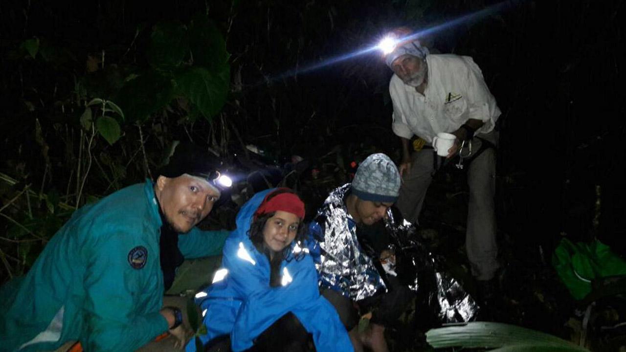 Kaina Machado y Enmanuel Janzen fueron localizados en horas de la noche por funcionarios de PC en la Quebrada de Las Adjuntas