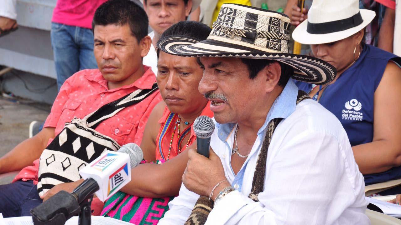 """Jaime Arias, gobernador del pueblo kankuamo, aseguró que la destrucción de dos espacios culturales """"se trata de un acto deliberado"""""""