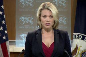 La portavoz del departamento de Estado, resaltó que su país continuará usandoherramientas económicas y diplomáticas para abordar amenazas de Venezuela